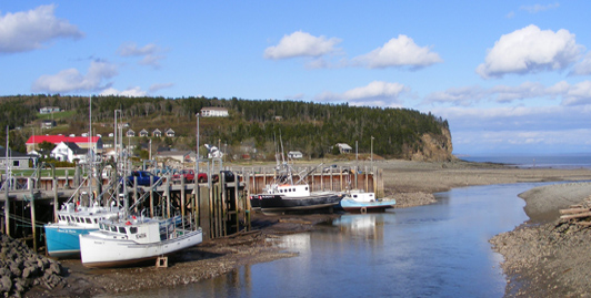 Alma's Wharf at low tide